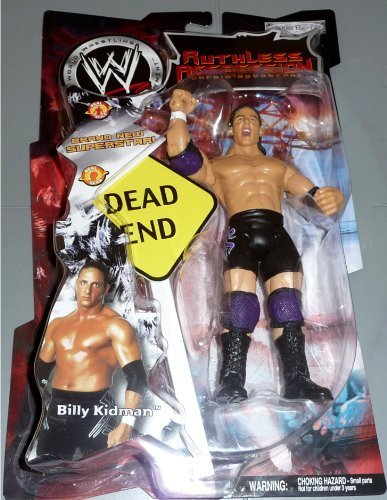 BILLY KIDMAN - WWE Wrestling Ruthless Aggression Series 2 Action Figure with Dead End Sign by Jakks by WWE - 1