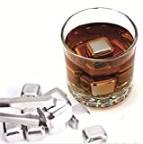 SHABAKE Deluxe Stainless Steel Ice Cooling Cubes with Gift Box(Set of 4)