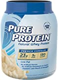 Pure Protein Natural Whey Protein Powder, French Vanilla, 1.6...