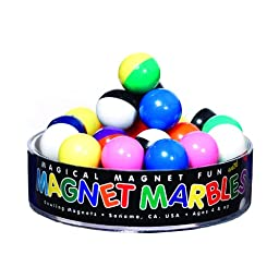 Dowling DO-736606BN Magnet Marbles, 20 Solid Colored, MultiPk 6 Each