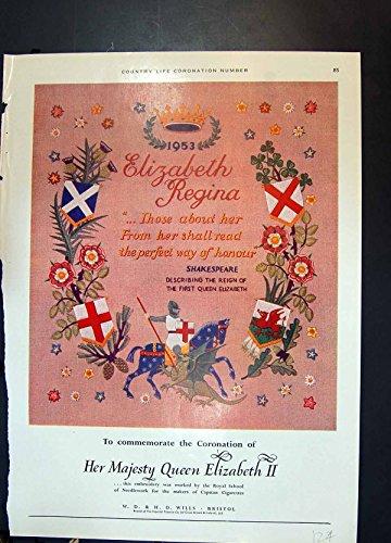 antiker-druck-von-stickerei-kronungs-winden-zigaretten-ovaltine-getrank-1953