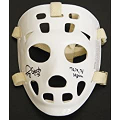 Tony Esposito Signed Throwback White Hockey Goalie Mask w 70, 72, 74 Vezina
