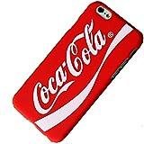 【iPhone6/6s】Coca-Cola(コカ・コーラ) Logo iPhone 6 ケース シリコン製+専用液晶クロスセットでお得! (赤)
