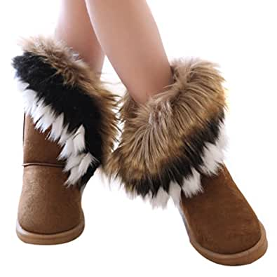 Hee Grand Fur Snow Boots | Amazon.com