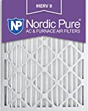 nordic pure 20x25x2m8 3 merv 8 pleated ac furnace air filter 20x25x2 box of 3
