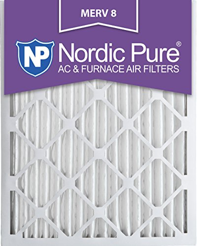 Nordic Pure 16x24x2M8-3 MERV 8 Pleated AC Furnace Air Filter, 16x24x2, Box of 3