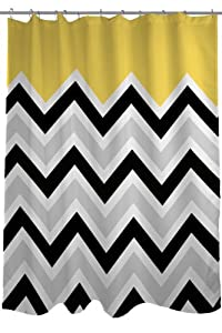 Bentin Home D Cor Chevron Solid Shower Curtain 71 By 74 Inch B