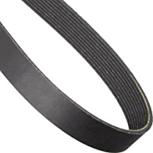 "Goodyear Engineered Products 975L10 Poly-V Belt, 10 Ribs, 0.38"" Height, 0.185"" V-Width, 97.5"" Nominal Outside Length"