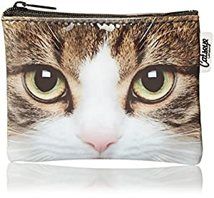 Animal World - Tabby Cat Large Face Coin Purse