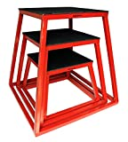 "Plyometric Platform Box Set- 12"", 18"", 24"" Red"