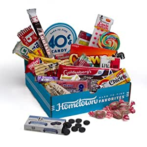 Hometown Favorites 1940's Nostalgic Candy Gift Box, Retro 40's Candy