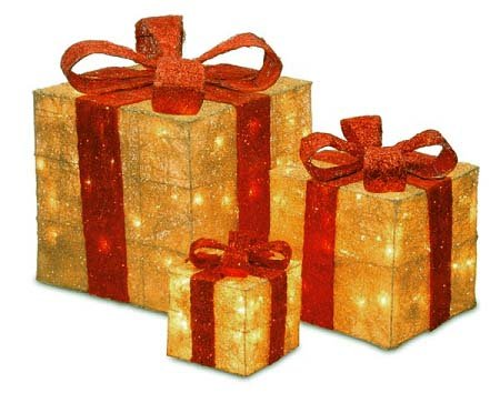 Outdoor Lighted Gift Boxes Christmas Gifts For Everyone