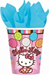 Amscan Hello Kitty Balloon Dreams 9-Ounce Paper Cups 8-Count