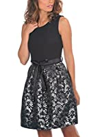 ELEGENCIA Vestido Riva (Negro / Plateado)