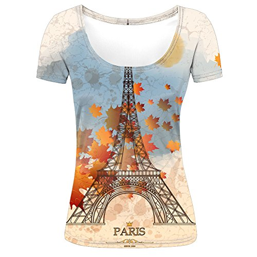 autumn-maple-leaves-and-eiffel-tower-womens-t-shirt-s