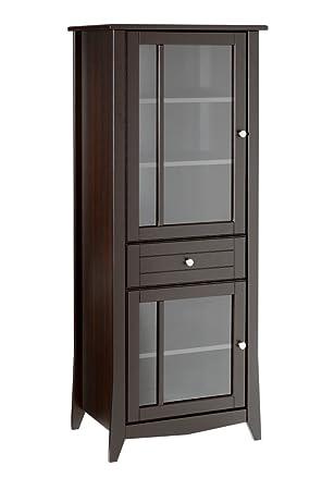 Nexera 200317 Elegance Curio Cabinet, Espresso