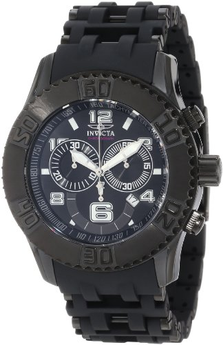 Invicta Men's 6713 Sea Spider Collection Chronograph Black Ion-Plated Watch