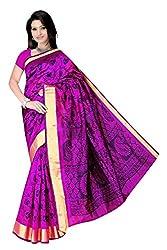 Monika Fashion Women's Cotton and Silk Saree - mf05_Pink