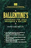 img - for Ballentine's Thesaurus for Legal Research & Writing (Delmar Paralegal) book / textbook / text book