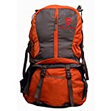 Gleam 2209 Climate Proof Rucksack / Hiking / Trekking Bag / Backpack 60 Ltrs Orange & Grey With Laptop Sleeve...