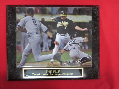 Derek Jeter The Flip Engraved Collector Plaque W/8X10 Action Photo back-764532