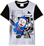 Ninja Hattori Boys' T-Shirt (HST-2130_Grey_5 - 6 years)