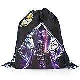 King of Merch Enfants Gym Bag Star Wars Episode VII erwachen le pouvoir Sac de gym Dark Vador x Wing Han Solo Obi Wan Kenobi Chewbacca Yoda Dark Vador Stormtrooper R2 D2de Luke Skywalker
