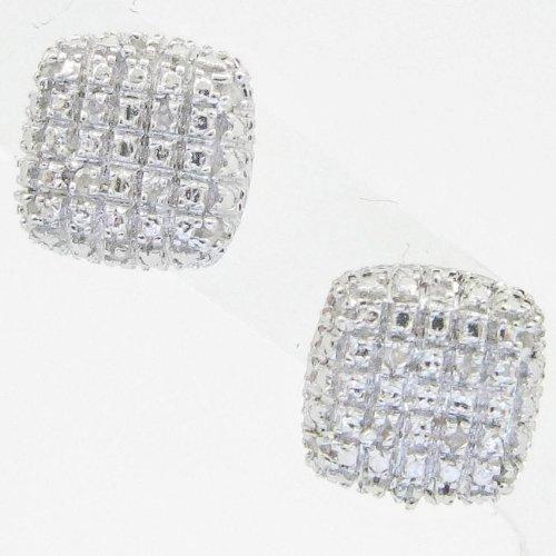 Mens 925 Sterling Silver earrings fancy stud hoops huggie ball fashion dangle white small pave earrings6