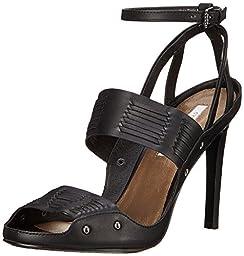 Cynthia Vincent Women\'s Jigsaw Dress Sandal, Black, 9 M US