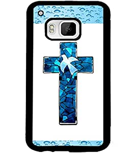ColourCraft Holy Cross Design Back Case Cover for HTC ONE M9