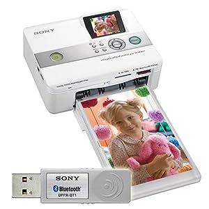 "PhotoPrinter/300x300dpi 2"" TFT White DPP-FP60BT Printers Printers Photo 10x15"
