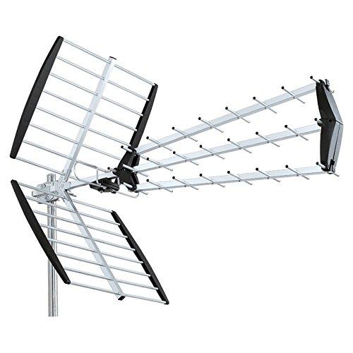HD-LINE HD-880D Antenne UHF Trinappe TNT HD Argent