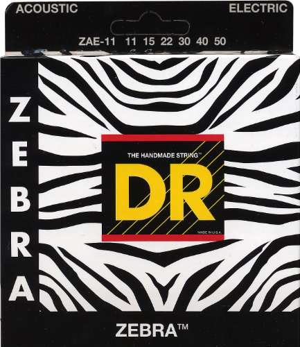 DR Strings Zebra - Acoustic-Electric Round Core