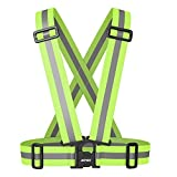 AGPtek Reflective Vest - Safety Vest - Reflective Strips for Running Cycling Motorcycle Safety Dog Walking - High Visibility Neon Green