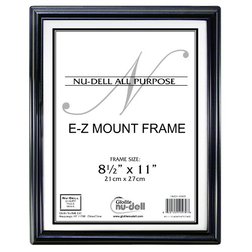 "8.5"" X 11"" Ez Mount Document Frame Plastic Face, Black front-229558"