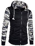 (シーエムワイ セレクト) cmy select メンズ 長袖 フルジップ パーカー 迷彩 フード付きジャケット
