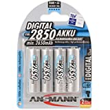 ANSMANN Rechargeable AA Batteries 2850mAh high-capacity high-rate rechargeable NiMH Batteries (4-Pack)