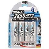 ANSMANN Mignon AA Akku Typ 2850mAh NiMH hochkapazitiv Profi Digital Kamera-Akkubatterie (4er Pack)
