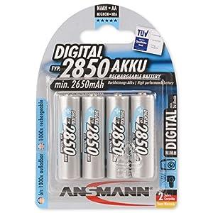 Ansmann 5035092 AA 2850 mAh Digital Rechargeable Batteries,  4-Pack
