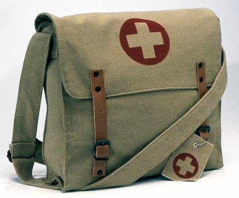 Rothco Vintage Medic Bag W/ Cross (Khaki)