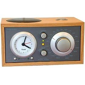 Tivoli Audio M3TPE Model Three AM/FM Clock Radio, Taupe/Cherry