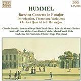 """Hummel """"Johann Nepomuk    Bassoon Concerto in F major"""