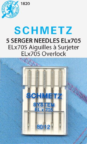 Euro Notions Universal Serger Needles (Size 12/80) - 5 per package