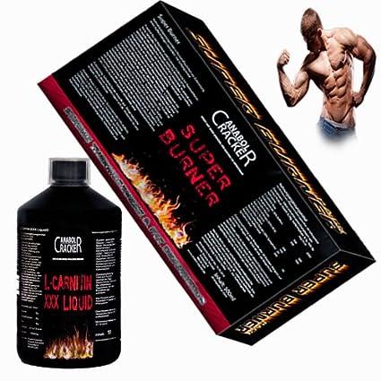 Super Burner, 20 Flaschen Aminosäuren / L-Carnitin + L-Carnitin XXX Liquid, 1L Flasche