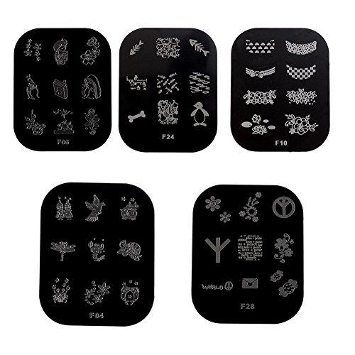 dIY nail art stamping modèle acier à outils