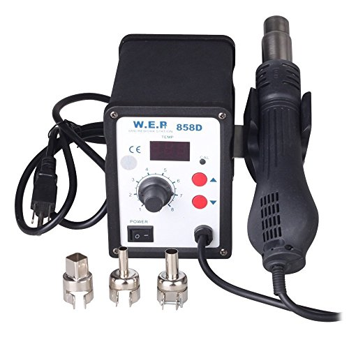 Great Features Of Kohree 110V LED Digital 858D SMD Hot Air Rework Station Solder Blower Heat Gun