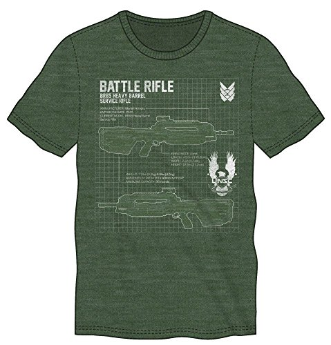 Halo 5 Maglia T Shirt Battle Rifle Size S Bioworld