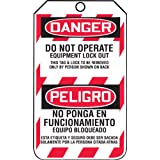 Accuform Signs TSP105CTP Spanish Bilingual Lockout Tag, Legend