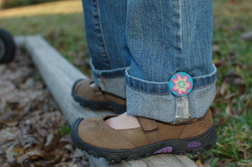 My Hikes--Adjust kids pant legs! (Flower)