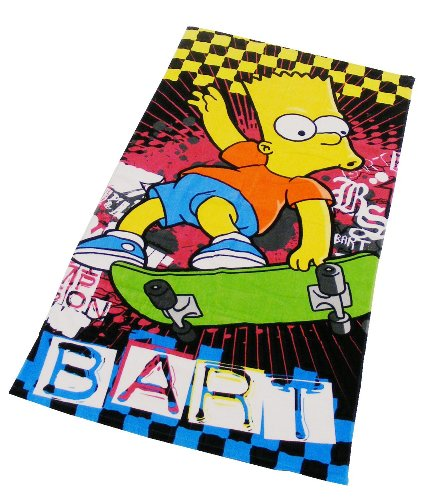 Character World Simpsons Bart Funk Towel